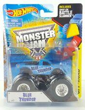 HOT WHEELS MONSTER JAM BLUE THUNDER TRUCK #17 OFF-ROAD SNAP ON BATTLE SLAMMER G1