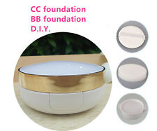 Air BB Cushion DIY Case Kit White/Gold With Sponge, Puff And Inter Case Make