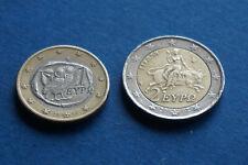 2 EUROS + 1 EURO GRECE 2002-S -Europa, figure grecque mythique - rare
