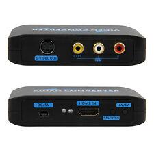 HDMI Input port to S-Video & Composite RCA Converter AV Adapter R/L Audio 1080P