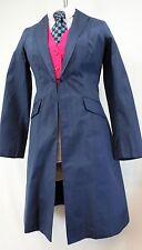 Reed Hill Saddleseat Day Coat Navy Blue Dupioni Silk size 12