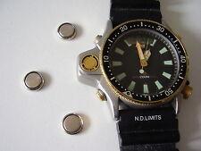 CITIZEN AQUALAND battery KIT (just 3 battery) Pile montre CITIZEN watch diving-