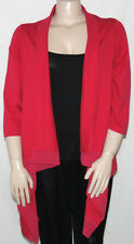 NEW Dennis Basso Size SMALL Cascade Front 3/4 Sleeve Sweater w/ Chiffon Trim