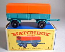 Matchbox RW 02D Mercedes Trailer 1. Gußform mit Box
