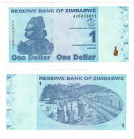 UNC ZIMBABWE $1 Dollar (2009) P-92 from the 4th series = $1 Trillion old dollars