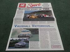 1988 VAUXHALL SPORT NEWS REVIEW ISSUE - Nova Astra GTE Lotus Challenge BROCHURE