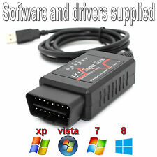 USB Diagnostic Scan Tool ELM  327 Cable OBD2 Can Bus Ford Vauxhall Citroen BMW