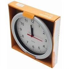 "Kingavon 9"" Round Traditional Indoors Quartz White Wall Clock - Contemporary"