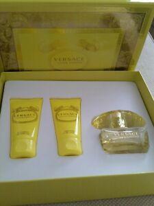 VERSACE YELLOW DIAMOND GIFT SET Perfume EDT + SHOWER GEL + BODY LOTION