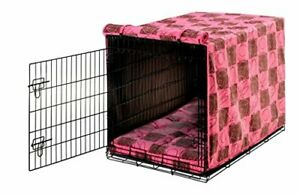 Bowsers Luxury Crate Cover Medium Tickled Pink