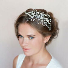 Bride Fancy Charm Pearl Headpiece Wedding Party Hair Comb Head Jewelry Handmade