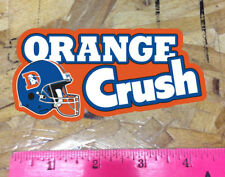 Orange Crush Denver Colorado Old School Broncos Bumper sticker