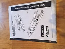 MSD STANLEY SHEARS  HAMMER WORK TOOL OPERATION MAINT MANUAL