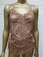 NICOLA FINETTI TANK CAMISOLE CAMI SINGLET TOP BLOUSE SHIRT FLAPPER Style S 8