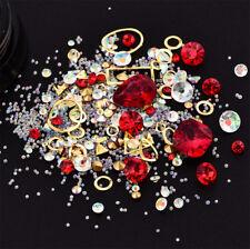 Nail Art 3D Jewelry Mix Glitter Rhinestones DIY Tips Sticker Decoration Ornement