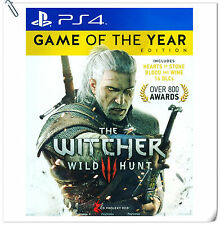 PS4 The Witcher 3: Wild Hunt Game of the Year Edition SONY Warner Home RPG Game