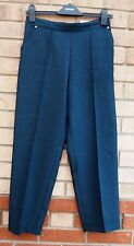 MARKS SPENCER CLASSIC SHORT MIX TEAL MINI CHECK TAILORED FORMAL WORK TROUSERS 8