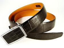 Completamente Nuevo Hombre 100% Cinturón De Cuero Negro Zilli.! hecho En Francia!! #100007