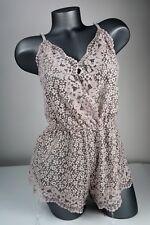 Victorias Secret Body By Victoria Romper Teddy Lace Gray Shorts XS $52