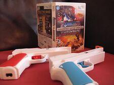 Wii GUNBLADE NY & LA MACHINEGUNS & 2 Brand NEW Wii Zapper Light Gun Attachments