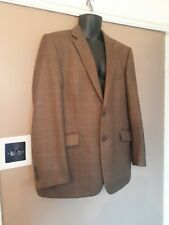 Brown / green checked wool suit Jacket / blazer by  Brook Taverner 42 Reg