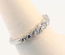 Tiffany & Co. Jazz Graduated Diamond Band Ring Sz 5.0 Retail $3,484 w Tax