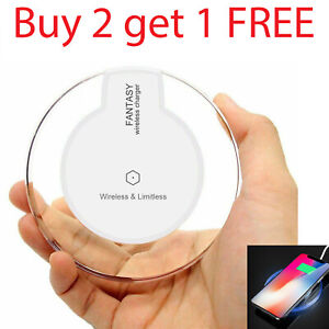 Qi Wireless Fast Charger Charging Pad Dock for Samsung Android iPhone Cell Phone