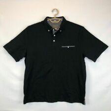 Thomas Dean Men's Polo Shirt L Black100 Cotton