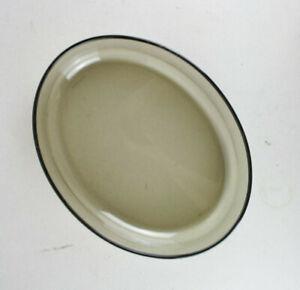 vintage ARCOPAL France Rauchglas große Auflaufform Schale oval