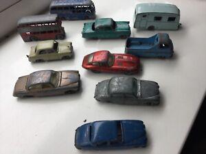 Vintage matchbox lesney playworn bundle x 10 regular wheels vehicles 1950s-1960s