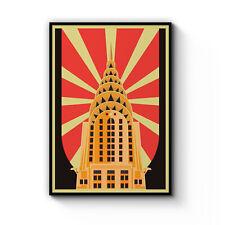 Retro Chrysler Building Vintage New York Decor Art Poster Print Artwork Framed