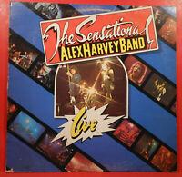 THE SENSATIONAL ALEX HARVEY BAND LIVE LP 1975 ORIGINAL GREAT CONDITION! VG+/VG!!