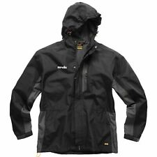 Scruffs Black Worker Jacket Men's Workwear Waterproof Raincoat Work Coat Black