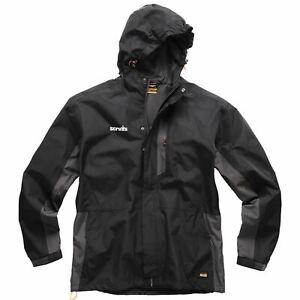 Scruffs Black Worker Jacket Men's Workwear Waterproof Raincoat Work Coat Black