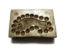VINTAGE - INDIA HAND ENGRAVED - BRONZE JEWELRY DIE MOLD / MOULD - TTFEBD7
