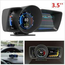 3.5'' Double Screen Smart Car SUV OBD2+GPS Gauge HUD Speedometer Turbo RPM Alarm