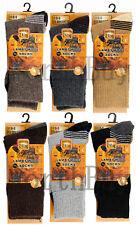 6 Pairs Mens Winter Warm Thermal Boots Work Merino Lambs Wool Socks Size 10-13
