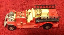 Vintage Hot Wheels Old Number No # 5 Red Fire Dept Truck Vehicle 1980 Collector