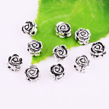 30/300pcs Tibetan Silver Rose Flower Loose Spacer Beads DIY Jewelry Making 7mm