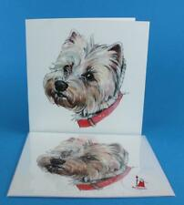 WEST HIGHLAND TERRIER Blank Greeting Card - Original by RedTrousersDesigns
