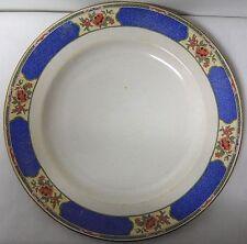 BAKER & CO VINTAGE BLUE AND WHITE FLORAL BORDER DINNER OR SALAD PLATE EUVC