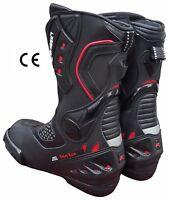 Stivali Stivaletto Moto Sportivo Racing Pelle Pista Professionale Traspirante