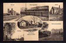 112538 AK Wegliniec Kohlfurt Schlesien Bahnhof Empfangsgebäude 1913 Kirche