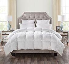 California King Goose Down Comforter Size White Blanket Luxury Thread Bedroom