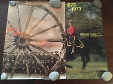 2 RCMP CENTENNIAL ANNIVERSARY POSTER 1873 - 1973 Royal Canadian Mounties Poster