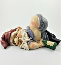 Drunk Gnome Patio Ornament Garden Funny Rude Drunken Disorderly Statue Figurine