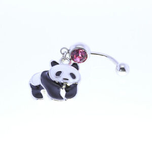 New - BELLY BANANA - PANDA - ROSE PINK  COLOUR STONE -  Aus Seller H2009