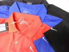 LOT OF 3 NIKE GOLF POLO SHIRT SZ M BLUE BLACK RED Polyester