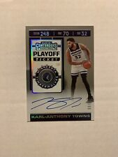 Karl-Anthony Towns 2019-20 Panini Contenders Playoff Ticket Auto /35 RARE