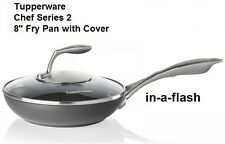 "Tupperware NIB CHEF SERIES II 8"" Nonstick Fry Pan Skillet w/ Cover FREE SHIP 2"